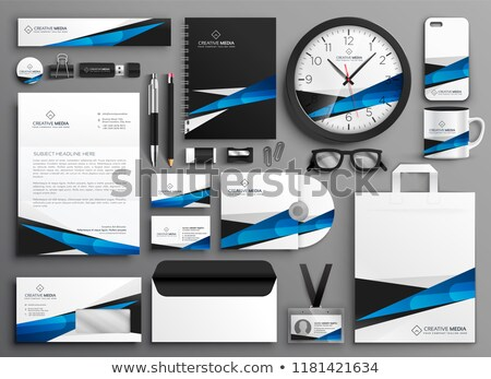 Zestaw działalności materiały biurowe biuro telefonu Zdjęcia stock © SArts
