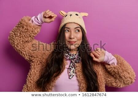 Retrato feliz chinês mulher longo cabelo escuro Foto stock © deandrobot