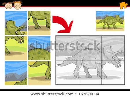динозавр характер Cartoon иллюстрация образовательный Сток-фото © izakowski