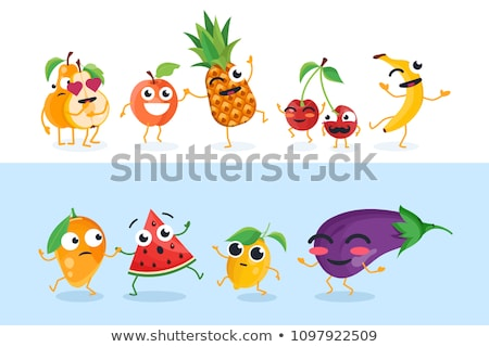 Triste Cartoon berenjena ilustración mirando alimentos Foto stock © cthoman