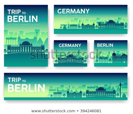 Establecer Alemania paisaje país ornamento viaje Foto stock © Linetale