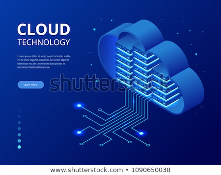 Network Communication System Infrastructure Vector Illustration Stock photo © jeff_hobrath