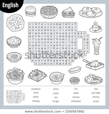 Spell English word burger Stock photo © bluering