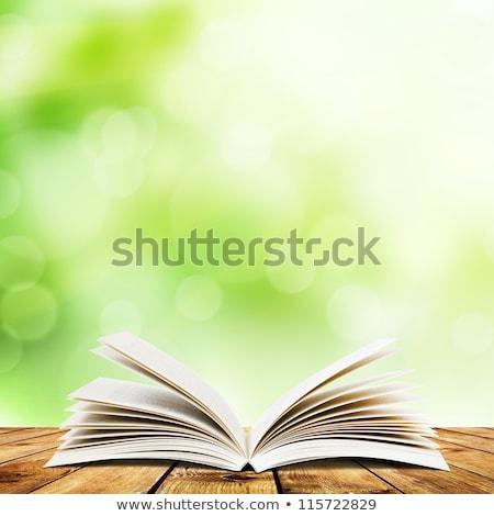 żółty światła książki otwarta księga papieru streszczenie Zdjęcia stock © ra2studio