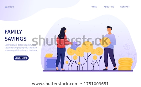 Financial Plan for Young Family Colorful Banner Stock photo © robuart