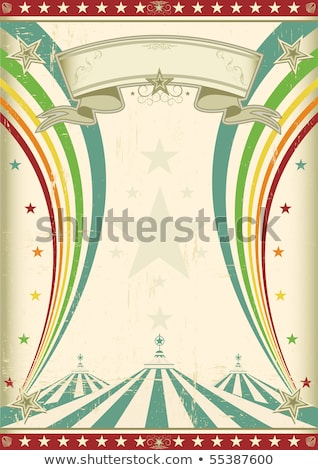 Retro rainbow circus poster Stock photo © tintin75