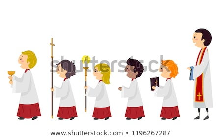 Ragazzi altare ragazzi illustrazione candele Foto d'archivio © lenm