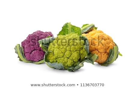 Colorido couve-flor escuro natureza saúde mercado Foto stock © brebca