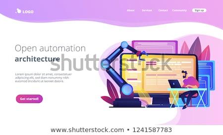 Nyitva automatizálás építészet leszállás oldal forrás Stock fotó © RAStudio