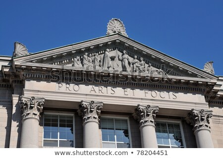 классический · архитектура · колониальный · стиль · здании - Сток-фото © flariv