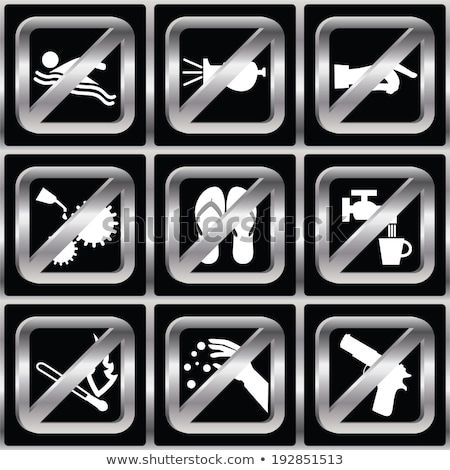 weapon forbidden sign icon Stock photo © romvo