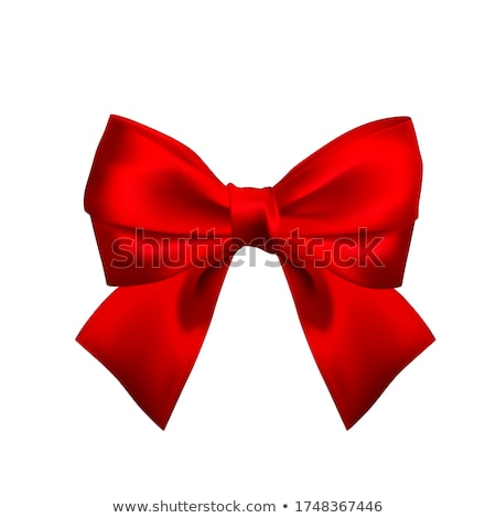 Realistic red bow. Element for decoration gifts, greetings, holidays. Vector illustration Stock photo © olehsvetiukha