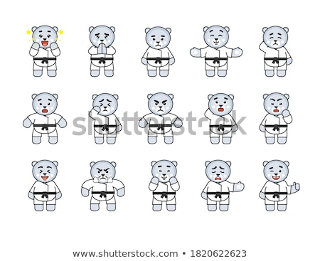 Desenho animado zangado karatê tenha olhando Foto stock © cthoman