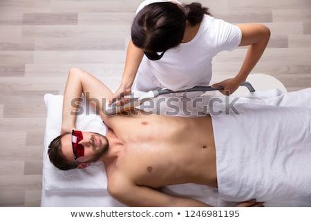 Fiatalember lézer haj eltávolítás kezelés közelkép Stock fotó © AndreyPopov