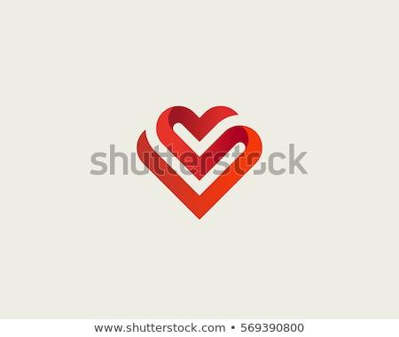 сердце аннотация Валентин икона вектора свадьба Сток-фото © blaskorizov