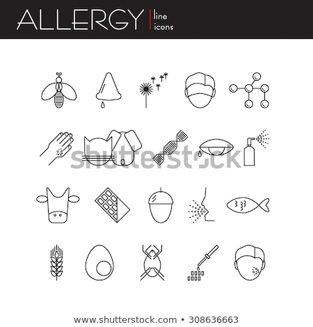 Allergens Causing Allergy, Food and Environment Stock photo © robuart