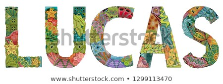 male name lucas vector decorative zentangle object stock photo © natalia_1947