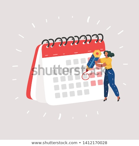 Businesswoman holding calendar with notes vector illustration. Stock photo © RAStudio