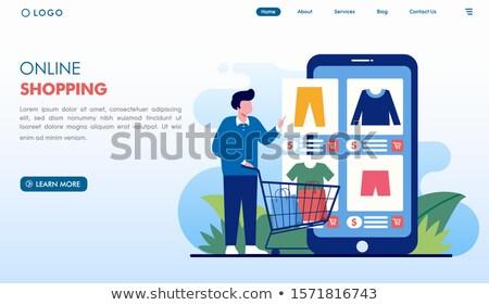 Digitális szolgáltatás piactér leszállás oldal vásárló Stock fotó © RAStudio