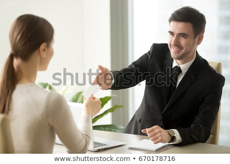 Consultants at Work Get Business Calls Businessmen Stock photo © robuart