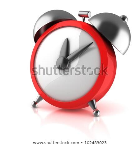 funny alarm clock on white background 3d rendering stock photo © nobilior