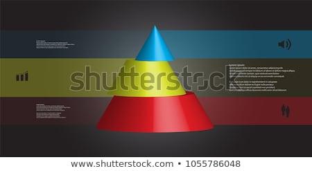 Black and Blue 3d Pyramidical Shape Vector Illustration Stock photo © cidepix