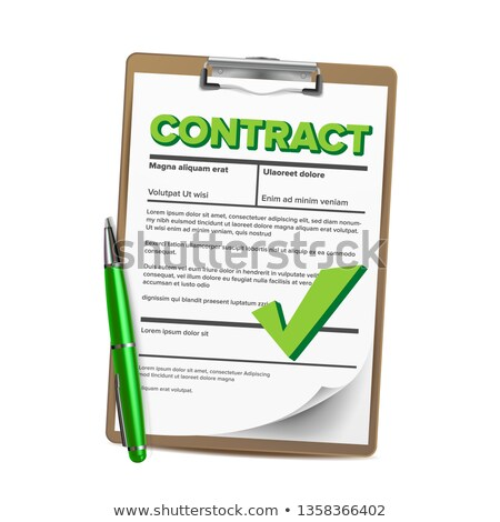 Foto stock: Notary Service Vector Legal Notary Paper Document Blank Official Worker Approved Concept Illustr