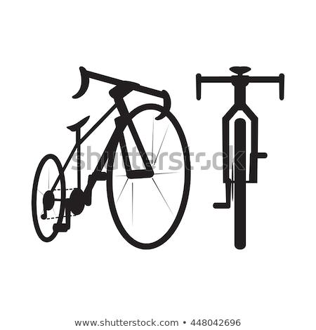 fiets · grijs · auto · auto - stockfoto © angelp