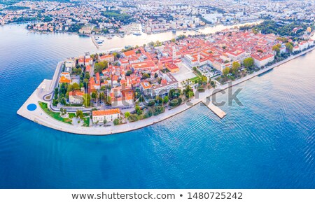 City of Zadar landmarks and cityscape aerial view Stock photo © xbrchx