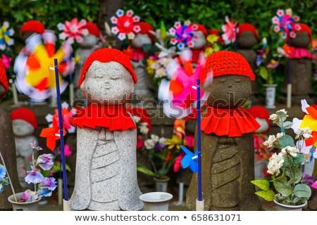 Tapınak Tokyo Japonya mezarlık çocuklar seyahat Stok fotoğraf © daboost