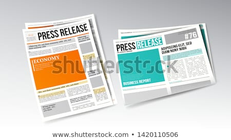 Newspaper Press Release With Headline Set Vector Stock photo © pikepicture