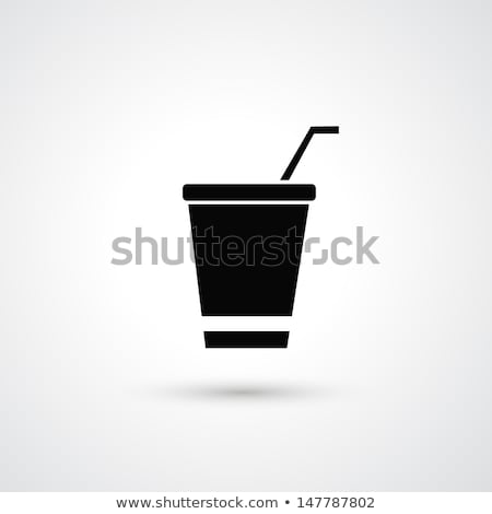 Soft Drink, Sweet Beverage in Plastic Mug Icon Stock photo © robuart