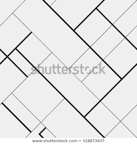 Zigzag meetkundig eenvoudige zwart wit diagonaal Stockfoto © olehsvetiukha