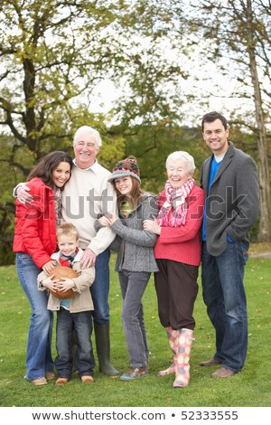 extended family group on walk through countryside stock photo © monkey_business