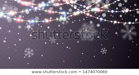 Christmas sneeuw vallen witte sneeuwvlokken donkere Stockfoto © olehsvetiukha