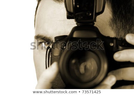 man taking a picture with a reflex camera Stock photo © nito