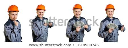 Trabajador de la construcción ganancias fuera bolsillo hombre trabajo Foto stock © vladacanon