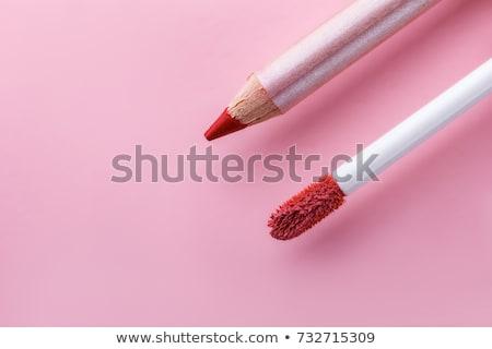 Belo completo lábios rosados batom profissional make-up Foto stock © serdechny