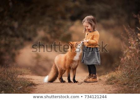 Küçük kız erkek kış sezonu aile kız eller Stok fotoğraf © Lopolo