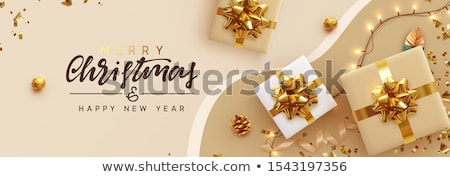 Noël vente horizontal bannière vecteur modèle Photo stock © ikopylov