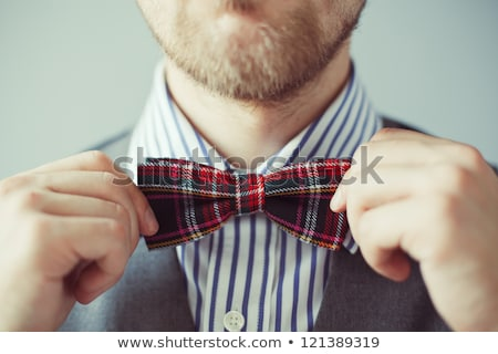 man in party clothes and bowtie Stock photo © dolgachov