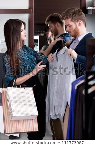 ショッピング 女性 ショップ コンサルタント ストア セット ストックフォト © robuart