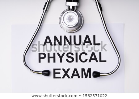 Annual Physical Exam Form Stock photo © AndreyPopov