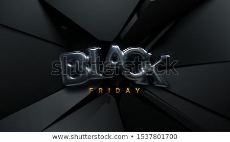 Black friday 3D stílus vásár szalag terv Stock fotó © SArts