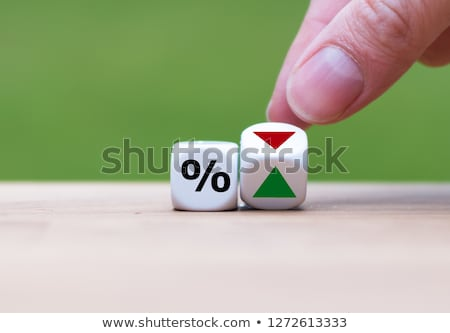 up and down red and green arrow, growth and decrease financial concept. Stock Vector illustration is Stock photo © kyryloff
