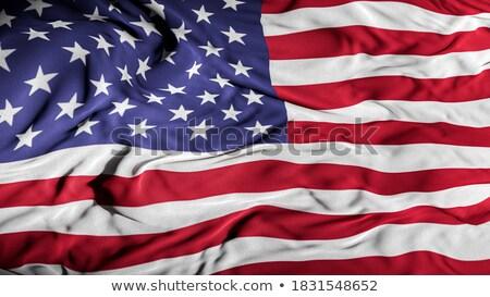 Washington katonaság támogatás amerikai zászló illusztráció forma Stock fotó © enterlinedesign