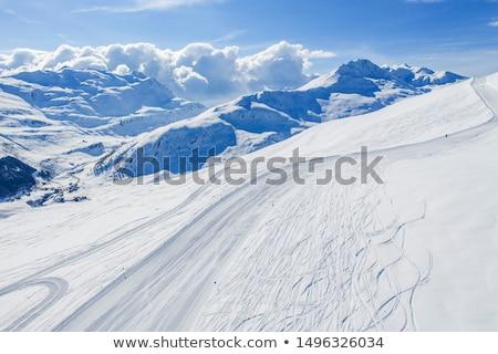View of mountains and ski slopes  Stock photo © JanPietruszka