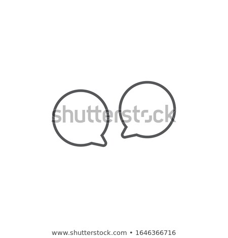 Two linear Speech bubbles icon. two round speech bubbles. Editable stroke. Stock Vector illustration Stock photo © kyryloff