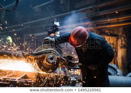 Industrial trabalhadores soldagem metal muitos forte Foto stock © lightpoet