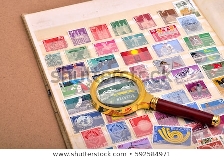 Stamp collection from Helvetia Stock photo © cienpies